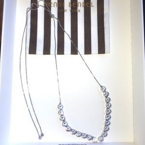 HENRI BENDEL Uptown Slider Crystal Necklace
